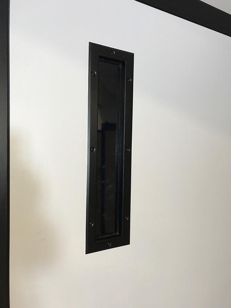 Single fire door with view panel — Side 2 — Window